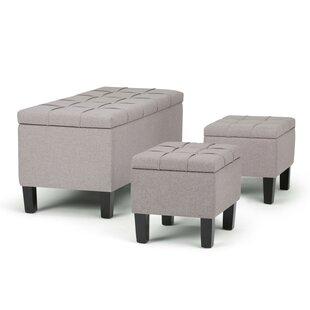 Dover 3 Piece Storage Bench by Simpli Home