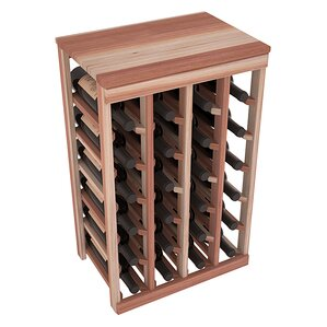 Karnes Redwood Table Top 24 Bottle Floor Wine Rack by Red Barrel Studio