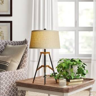 Orren Ellis Lannon Black Led Table Lamp Wayfair