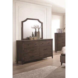 Theis 6 Drawer Double Dresser with Mirror by Union Rustic