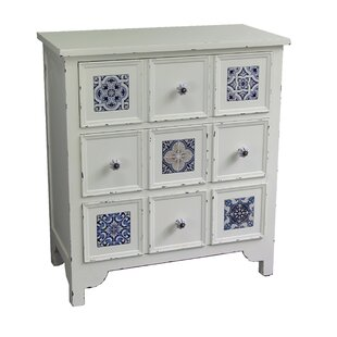 Antique Wooden 3 Drawer Accent Chest by Jeco Inc.