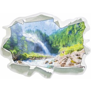 The Krimml Waterfall In Salzburg National Park Wall Sticker By East Urban Home