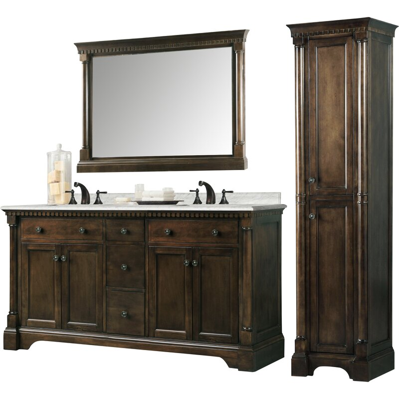 Little Italy 61 Double Bathroom Vanity Set
