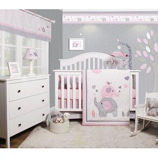 Cheatwood Elephant Baby Nursery 6 Piece Crib Bedding Set