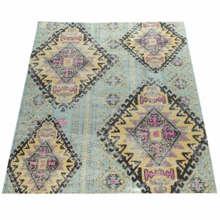 Maidste Flatweave Turquoise Rug Image
