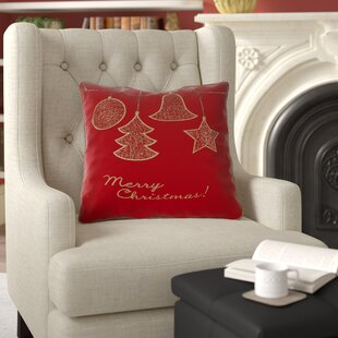 Brittain Gold Ornaments Throw Pillow
