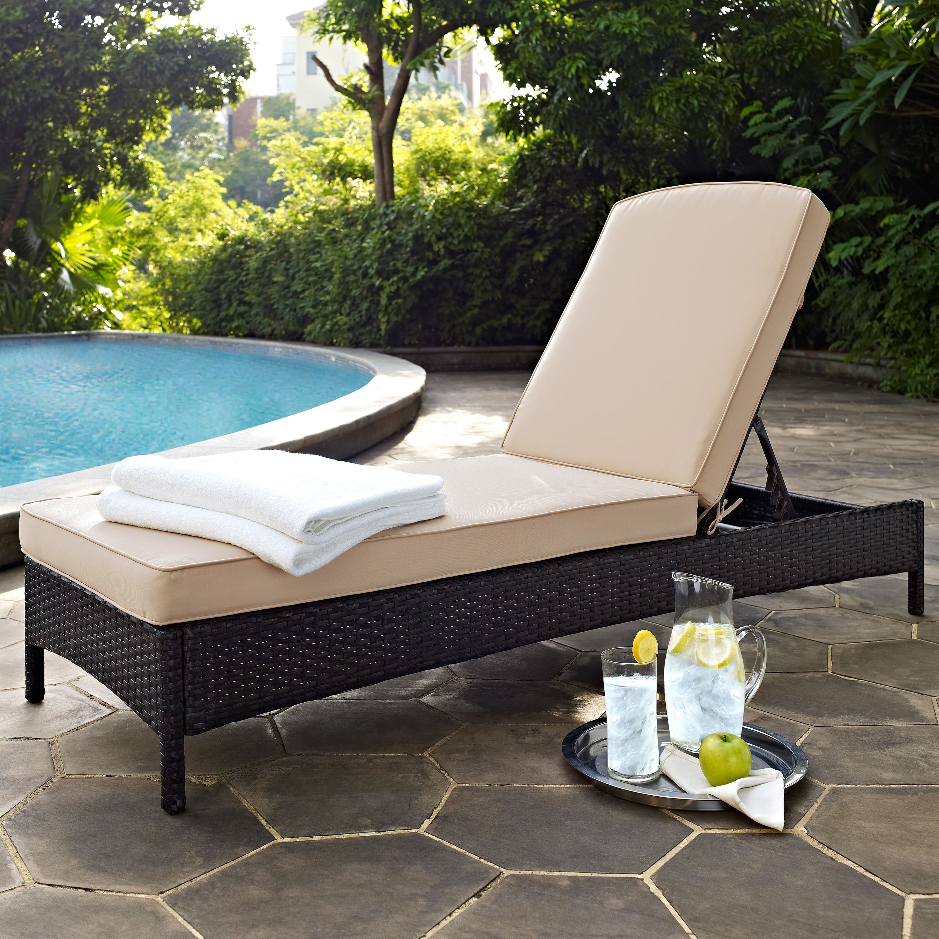 shipping garden u outdoor home shaped product mattress lounge today free weather chaise all overstock cushion