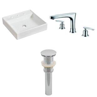Ceramic Square Vessel Bathroom Sink with Faucet ByRoyal Purple Bath Kitchen