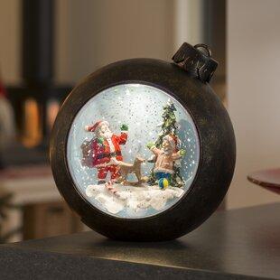 Review 1 Warm White LED Snow Lantern With Santa Scene Lamp