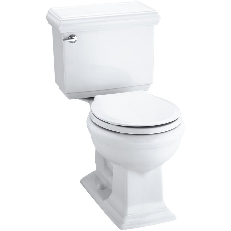 K 3986 0 96 7 Kohler Memoirs Impressions Classic Comfort Height Two Piece Round Front 1 28 Gpf Toilet With Aquapiston Flush Technology And Left Hand Trip Lever Reviews Wayfair