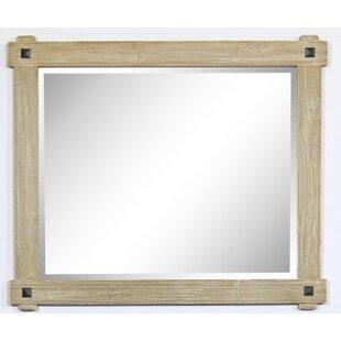 Mcelvain Rustic Wood Framed Bathroom  Vanity Mirror by Loon Peak