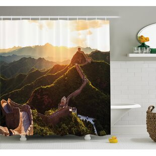 Historical Mystic Sunset Time Shower Curtain + Hooks