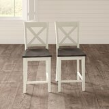 Ridgley Solid Wood 24 Counter Stool (Set of 2) by Gracie Oaks