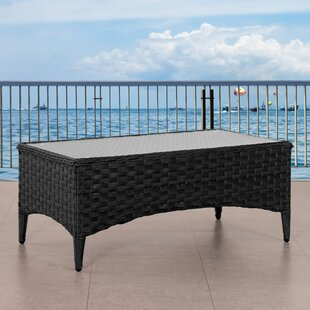 Svetlana Wide Patio Wicker Coffee Table