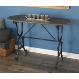 Crestline Metal Console Table by Gracie Oaks