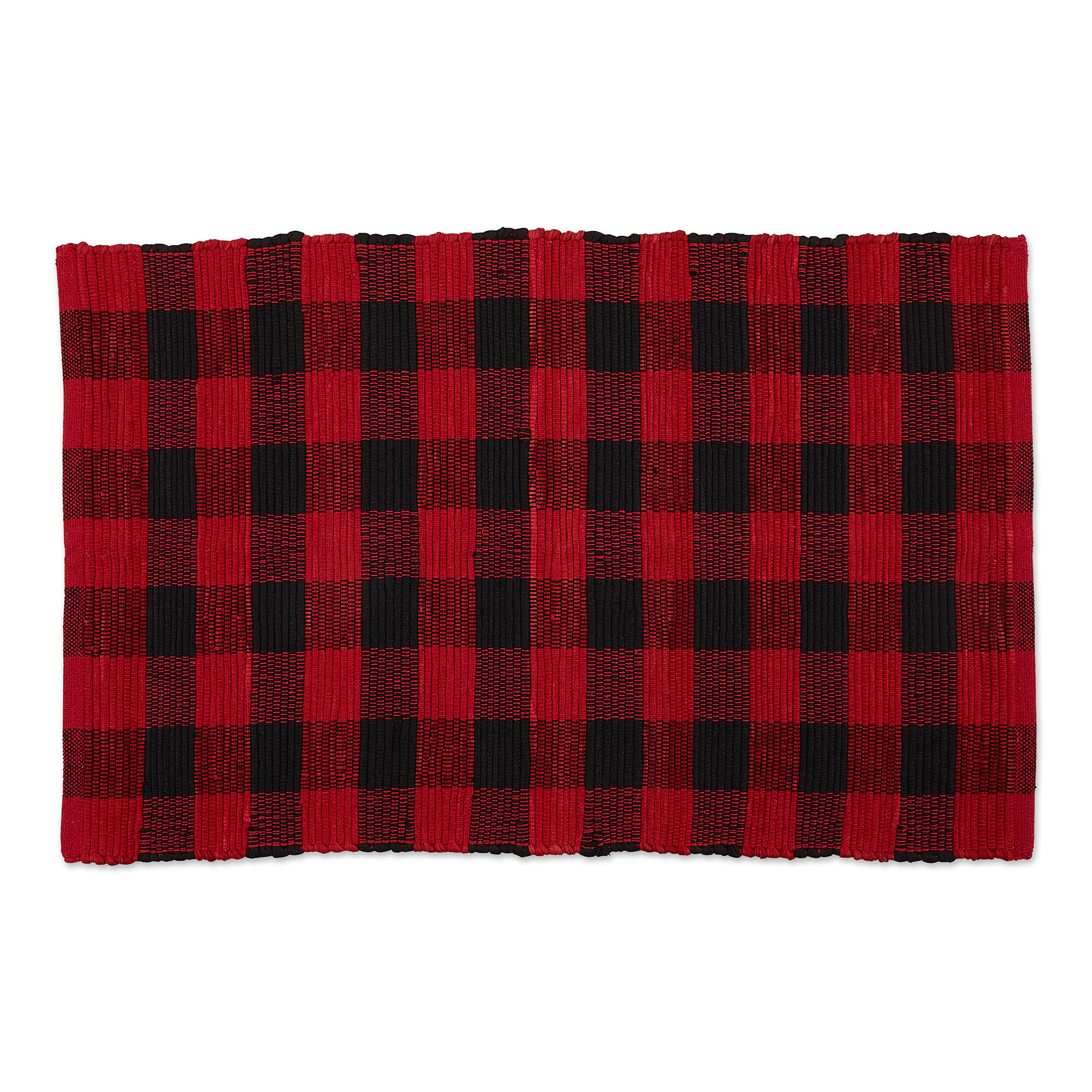 Weimar Buffalo Check Flatweave Cotton
