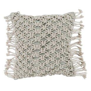 Tullia Spring Natural Macrame Throw Pillow