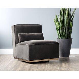Sunpan Modern Caledon Swivel Slipper Chair