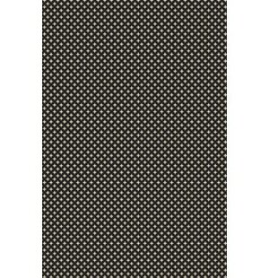 Merced Elegant Cross Design Black/White Indoor/Outdoor Area Rug