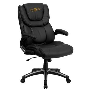 Personalized Genuine Leather Executive Chair by Flash Furniture Coupon