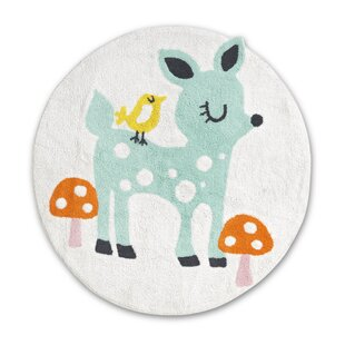 Pamela Cotton White Rug By Zoomie Kids