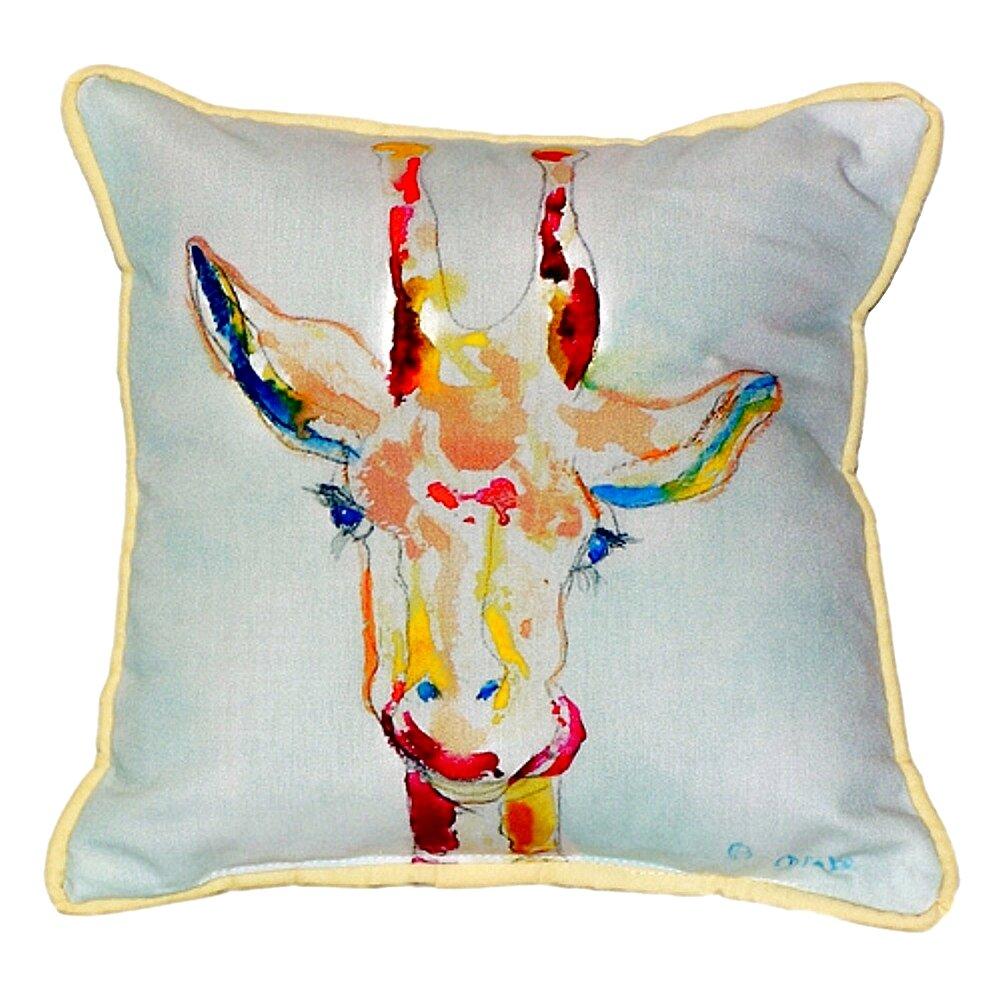 World Menagerie Lansdale Giraffe Indoor Outdoor Throw Pillow