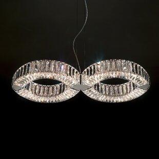Eyris 8-Light Crystal Pendant by Swarovski