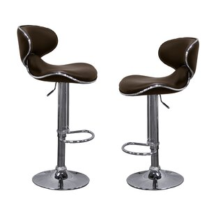 Kincheloe Modern Adjustable Swivel Bar Stool (Set of 2)