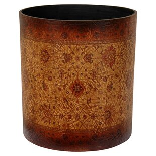 World Menagerie Clair Faux Leather Waste Basket