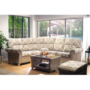 Dasilva  4 Piece Conservatory Sofa Set By Beachcrest Home