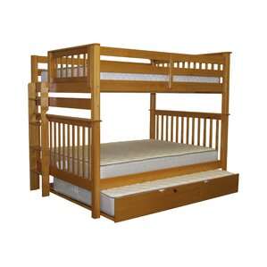Mission Full over Full Bunk Bed with Full Trundle by Bedz King