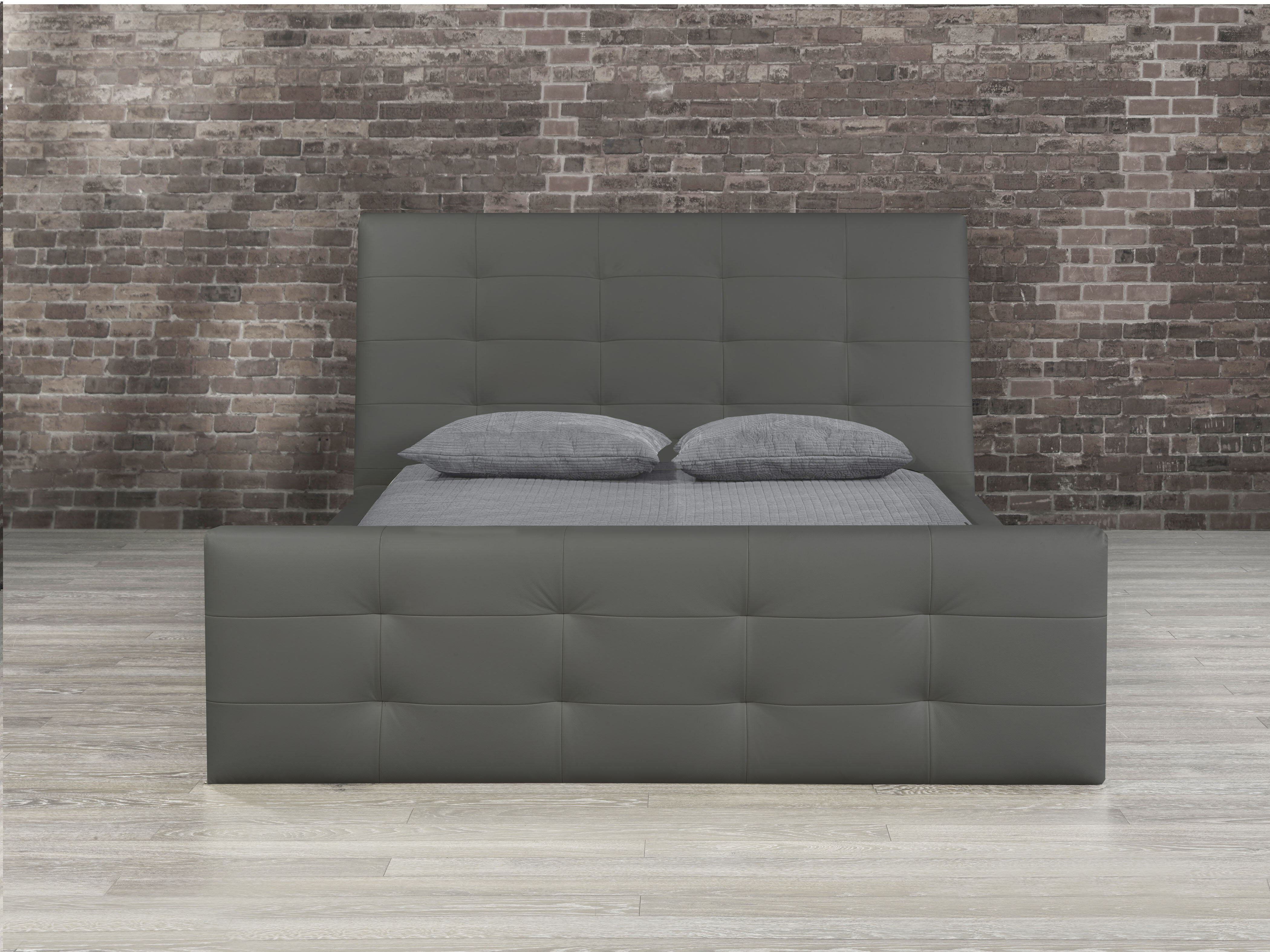 Grey Leather Beds You Ll Love In 2021 Wayfair