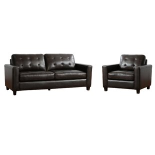 Low priced Dion 2 Piece Leather Living Room Set (Set of 2) by 17 Stories Reviews (2019) & Buyer's Guide