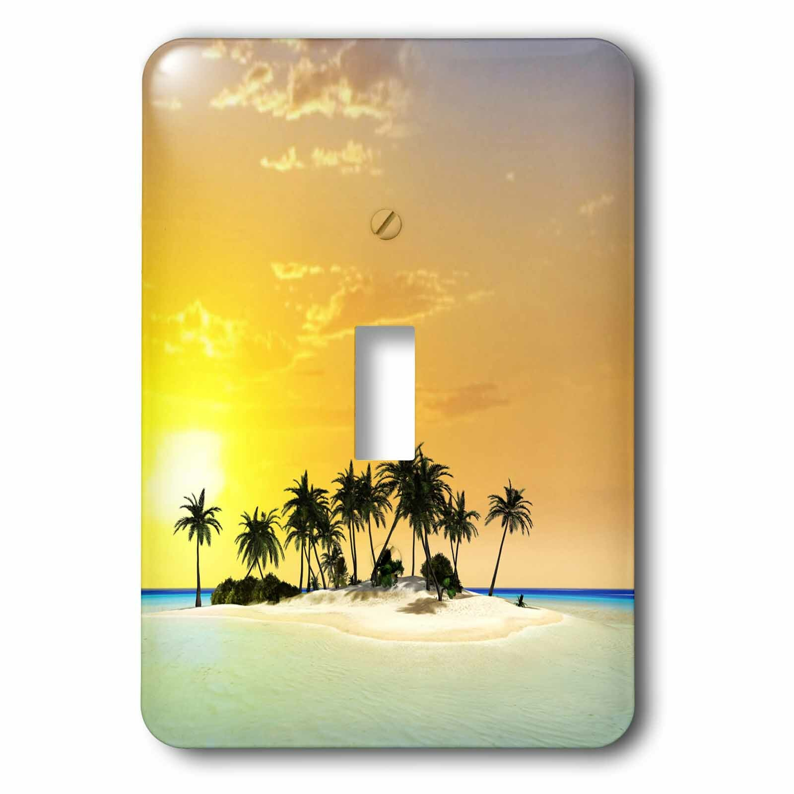 3drose The Ocean With Tropical Island 1 Gang Toggle Light Switch Wall Plate Wayfair