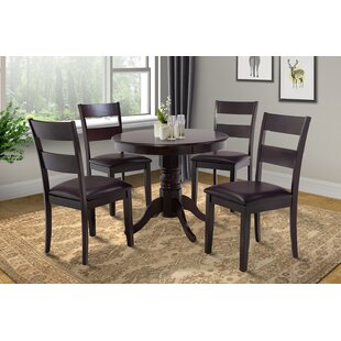 Cedarville 5 Piece Solid Wood Dining Set by Alcott Hill Looking for