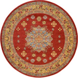 Jana Red Area Rug by Bloomsbury Market