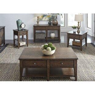 Loon Peak Kalene 5 Piece Coffee Table Set