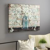 'Blossoms in Mason Jar' by Tre Sorelle - Wrapped Canvas Print by Laurel Foundry Modern Farmhouse