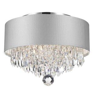 Carin Acrylic Crystal 3 Light Flush Mount