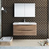 Senza Tuscany 40 Wall-Mounted Single Bathroom Vanity Set with Medicine Cabinet by Fresca