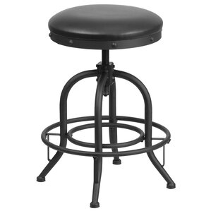 Danita Adjustable Height Swivel Bar Stool by Williston Forge