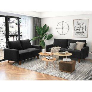Marengo 2 Piece Velvet Living Room Set by Wade Logan