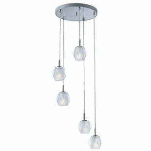 Orren Ellis Eddins 5-Light Cluster Pendant