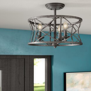 Rodden 3-Light Semi-Flush Mount by World Menagerie