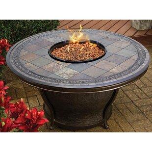 Tempe Aluminum Propane Fire Pit Table by TK Classics Wonderful