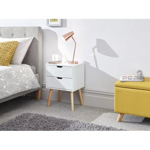 Nachttisch Kiana | Schlafzimmer > Nachttische | Weiß | Norden Home