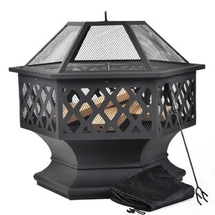 Romy Wood Burning Fire Pit By Marlow Home Co.