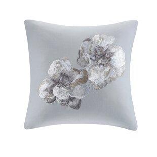 Grey Embroidered Pillow Wayfair