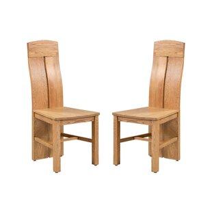 Kiazolu Solid Wood Dining Chair (Set of 2) by Loon Peak