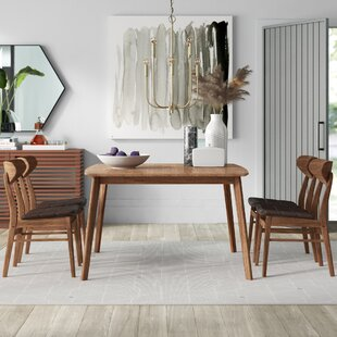 Lillis 5 Piece Dining Set Mercury Row